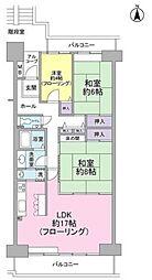 サントゥール中川第9-3号棟[9階]の間取り