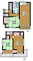 [一戸建] 埼玉県和光市新倉2丁目 の賃貸【埼玉県 / 和光市】の間取り