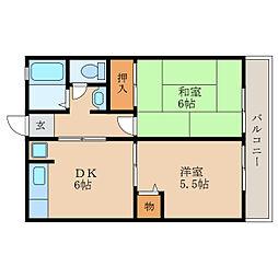 滋賀県野洲市西河原の賃貸アパートの間取り