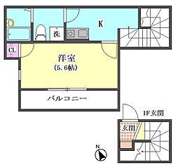 仮)大田区東矢口3丁目1410新築アパート[303号室]の間取り