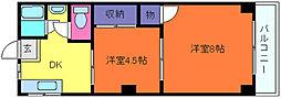 深江ハイツ[4階]の間取り