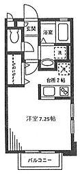 神奈川県川崎市高津区末長4丁目の賃貸アパートの間取り