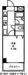 ドミール恵比寿[2階]の間取り