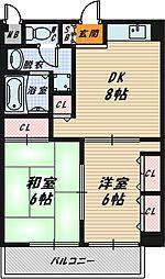 大東マンション2[403号室]の間取り