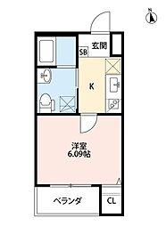 Osaka Metro谷町線 千林大宮駅 徒歩7分の賃貸アパート 2階1Kの間取り