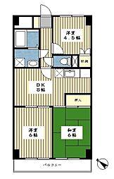 エトワール富士見が丘[703号室]の間取り