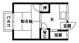 コーポ井尻B[2階]の間取り