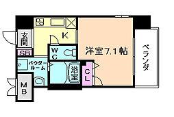 大阪府大阪市北区本庄西1の賃貸マンションの間取り