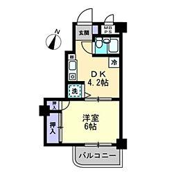 セザール第2たまプラーザ1階Fの間取り画像