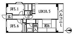 第5みなもとマンション[4階]の間取り
