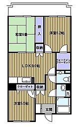 神奈川県横浜市青葉区荏田西3丁目の賃貸マンションの間取り