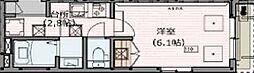 野方フォレストハイツ 1階1Kの間取り