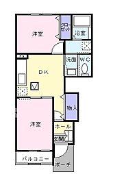 トレーノ湘南[1階]の間取り