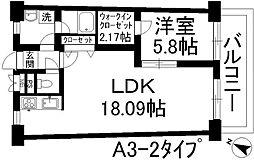 アーバンハイツ住乃江[13階]の間取り