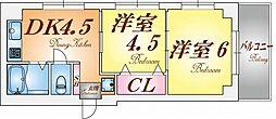 パレルミエール神戸[2階]の間取り