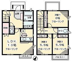 [テラスハウス] 神奈川県川崎市麻生区栗木1丁目 の賃貸【/】の間取り