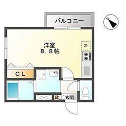 いにしえ今宿駅前 B[208号室]の間取り