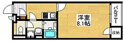 クレイノハレ オリナ 2階1Kの間取り