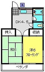 サン・ファミーK[205号室]の間取り