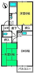 埼玉県さいたま市西区大字西遊馬の賃貸アパートの間取り