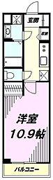 JR八高線 北八王子駅 徒歩11分の賃貸マンション 3階1Kの間取り