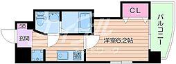 Osaka Metro堺筋線 日本橋駅 徒歩7分の賃貸マンション 12階1Kの間取り
