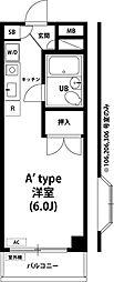 東京都小平市上水本町4の賃貸マンションの間取り