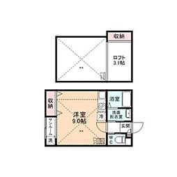 First Square[D205号室]の間取り