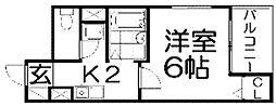 M'PLAZA香里弐番館[2階]の間取り