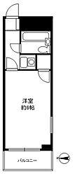 武蔵屋ビル[501号室]の間取り