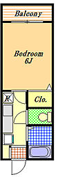 アーバンライフ入船[1階]の間取り