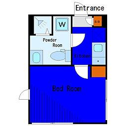 京急空港線 穴守稲荷駅 徒歩4分の賃貸アパート 2階1Kの間取り