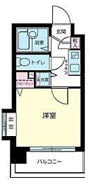 JR総武線 飯田橋駅 徒歩4分の賃貸マンション 3階1Kの間取り
