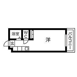 パンルネックス・クリスタル大濠III[402号室]の間取り