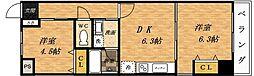 ビビッドフィールド大阪[102号室]の間取り