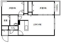 北海道札幌市白石区菊水八条3丁目の賃貸マンションの間取り