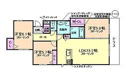 大阪府豊中市刀根山2丁目の賃貸マンションの間取り