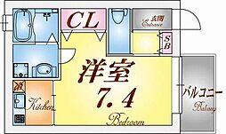 Espoir kanaya[1階]の間取り