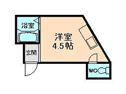 東二ハイツ[3階]の間取り