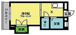 第2ハイム広田[303号室]の間取り