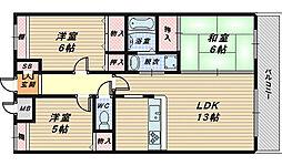 セントラル・コート[2階]の間取り