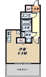 大阪府大阪市城東区今福西1丁目の賃貸マンションの間取り
