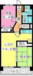 ヴェラカーサつつじケ丘[602号室]の間取り