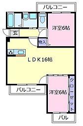 メゾンジョワ[3階]の間取り