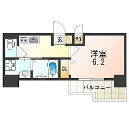 Osaka Metro御堂筋線 東三国駅 徒歩6分の賃貸マンション 2階1Kの間取り