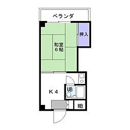 カルム箱崎[301号室]の間取り