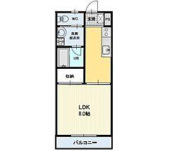 長野県上田市国分の賃貸アパートの間取り