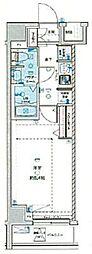GENOVIA 荻窪II skygarden 4階1Kの間取り