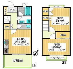 [テラスハウス] 東京都世田谷区野沢3丁目 の賃貸【/】の間取り