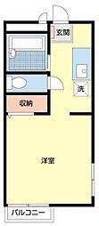 東京メトロ丸ノ内線 東高円寺駅 徒歩10分の賃貸アパート 2階ワンルームの間取り